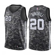 Maillot Basket Enfant San Antonio Spurs 2018 Manu Ginobili 20# City Edition..