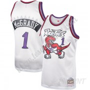 Maillot De Basket Enfant Toronto Raptors 1998-99 Tracy McGrady 1# Platinum Hardwood Classics Swingma..