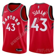 Maillot De Basket Enfant Toronto Raptors 2019-20 Pascal Siakam 43# Rouge Icon Edition Swingman..