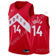 Maillot De Basket Enfant Toronto Raptors 2019-20 Danny Green 14# Rouge Earned Edition Swingman..