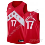 Maillot De Basket Enfant Toronto Raptors 2019-20 Jonas Valanciunas 17# Rouge Earned Edition Swingman..