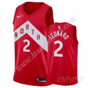 Maillot De Basket Enfant Toronto Raptors 2019-20 Kawhi Leonard 2# Rouge Earned Edition Swingman..