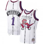 Maillot NBA Toronto Raptors 1998-99 Tracy McGrady 1# Blanc Hardwood Classics Swingman..