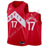 Maillot NBA Toronto Raptors 2019-20 Jonas Valanciunas 17# Rouge Earned Edition Swingman..