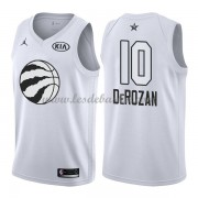 Maillot NBA Pas Cher Toronto Raptors DeMar DeRozan 10# White 2018 All Star Game Swingman..