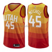 Maillot Basket Enfant Utah Jazz 2018 Donovan Mitchell 45# City Edition..