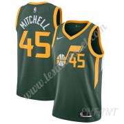 Maillot De Basket Enfant Utah Jazz 2019-20 Donovan Mitchell 45# Vert Earned Edition Swingman..