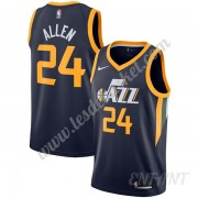 Maillot De Basket Enfant Utah Jazz 2019-20 Grisson Allen 24# Bleu Marine Icon Edition Swingman..