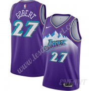 Maillot De Basket Enfant Utah Jazz 2019-20 Rudy Gobert 27# Violet Finished Hardwood Classics Swingma..