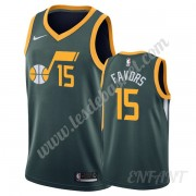 Maillot De Basket Enfant Utah Jazz 2019-20 Derrick Favors 15# Vert Earned Edition Swingman..