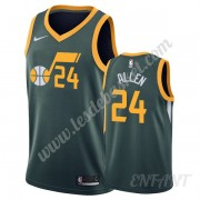 Maillot De Basket Enfant Utah Jazz 2019-20 Grisson Allen 24# Vert Earned Edition Swingman..
