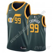Maillot De Basket Enfant Utah Jazz 2019-20 Jae Crowder 99# Vert Earned Edition Swingman..