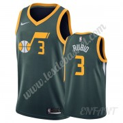 Maillot De Basket Enfant Utah Jazz 2019-20 Ricky Rubio 3# Vert Earned Edition Swingman..