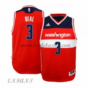 Maillot Basket Enfant Washington Wizards 2015-16 Bradley Beal 3# Road..