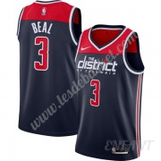 Maillot De Basket Enfant Washington Wizards 2019-20 Bradley Beal 3# Bleu Marine Finished Statement E..