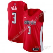 Maillot De Basket Enfant Washington Wizards 2019-20 Bradley Beal 3# Rouge Earned Edition Swingman..