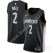 Maillot De Basket Enfant Washington Wizards 2019-20 John Wall 2# Noir City Edition Swingman..
