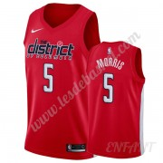 Maillot De Basket Enfant Washington Wizards 2019-20 Markieff Morris 5# Rouge Earned Edition Swingman..