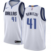 Maillot Basket Enfant Dallas Mavericks 2018 Dirk Nowitzki 41# Association Edition..