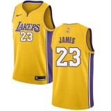 Maillot NBA Los Angeles Lakers 2018 LeBron James 23# Icon Edition