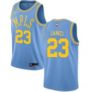 Maillot NBA Los Angeles Lakers 2018 LeBron James 23# Light Blue Hardwood Classics..