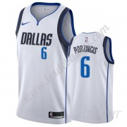 Maillot De Basket Enfant Dallas Mavericks 2019-20 Kristaps Porzingis 6# Blanc Association Edition Sw..