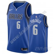 Maillot De Basket Enfant Dallas Mavericks 2019-20 Kristaps Porzingis 6# Bleu Icon Edition Swingman..
