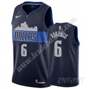 Maillot De Basket Enfant Dallas Mavericks 2019-20 Kristaps Porzingis 6# Bleu Marine Statement Editio..