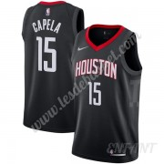 Maillot De Basket Enfant Houston Rockets 2019-20 Clint Capela 15# Noir Statement Edition Swingman..