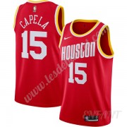 Maillot De Basket Enfant Houston Rockets 2019-20 Clint Capela 15# Rouge Finished Hardwood Classics S..