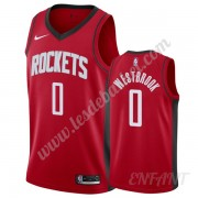 Maillot De Basket Enfant Houston Rockets 2019-20 Russell Westbrook 0# Rouge Icon Edition Swingman..