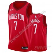 Maillot De Basket Enfant Houston Rockets 2019-20 Carmelo Anthony 7# Rouge Earned Edition Swingman..