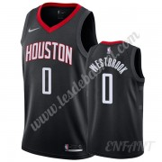 Maillot De Basket Enfant Houston Rockets 2019-20 Russell Westbrook 0# Noir Statement Edition Swingma..