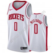 Maillot De Basket Enfant Houston Rockets 2019-20 Russell Westbrook 0# Blanc Association Edition Swin..