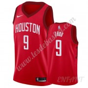 Maillot De Basket Enfant Houston Rockets 2019-20 Zhou Qi 9# Rouge Earned Edition Swingman..
