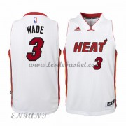 Maillot Basket NBA Miami Heat Enfant 2015-16 Dwyane Wade 3# Home..