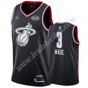Maillot NBA Pas Cher Miami Heat 2019 Dwyane Wade 3# Noir All Star Game Swingman..