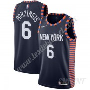Maillot De Basket Enfant New York Knicks 2019-20 Kristaps Porzingis 6# Bleu Marine City Edition Swin..