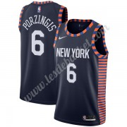 Maillot NBA New York Knicks 2019-20 Kristaps Porzingis 6# Bleu Marine City Edition Swingman..