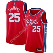 Maillot NBA Philadelphia 76ers 2019-20 Ben Simmons 25# Rouge Finished Statement Edition Swingman..