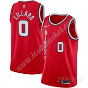 Maillot De Basket Enfant Portland Trail Blazers 2019-20 Damian Lillard 0# Rouge Finished Hardwood Cl..