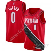 Maillot De Basket Enfant Portland Trail Blazers 2019-20 Damian Lillard 0# Rouge Finished Statement E..