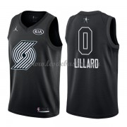 Maillot NBA Pas Cher Portland Trail Blazers Damian Lillard 0# Black 2018 All Star Game Swingman..